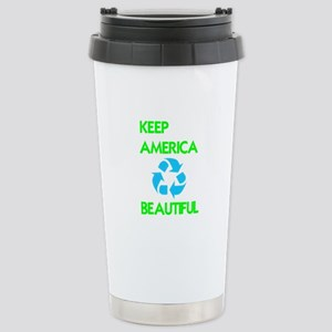 KEEP AMERICA BEAUTIFUL Stainless Steel Travel Mug