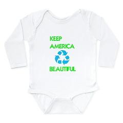 KEEP AMERICA BEAUTIFUL Long Sleeve Infant Bodysuit