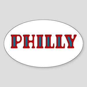 PHILLY Oval Sticker