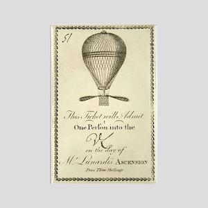 1784 Balloon Ticket Rectangle Magnet