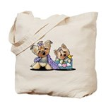 Bebe and Jolie Portrait Tote Bag