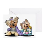 Bebe and Jolie Portrait Greeting Cards (Pk of 10)