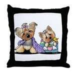 Bebe and Jolie Portrait Throw Pillow