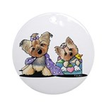 Bebe and Jolie Portrait Ornament (Round)