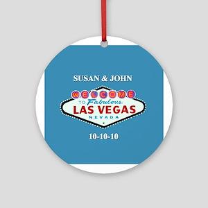 Susan/John Vegas Ornament (Round)