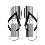 Bar Code 11-11-11 Flip Flops