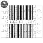 Bar Code 11-11-11 Puzzle