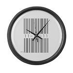 Bar Code 11-11-11 Large Wall Clock