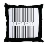 Bar Code 11-11-11 Throw Pillow