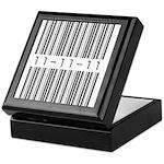 Bar Code 11-11-11 Keepsake Box