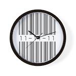 Bar Code 11-11-11 Wall Clock