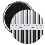 Bar Code 11-11-11 Magnet