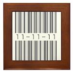 Bar Code 11-11-11 Framed Tile