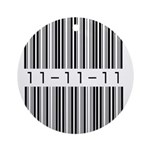 Bar Code 11-11-11 Ornament (Round)