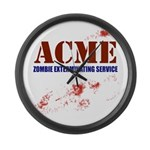 ACME Zombie Extermination Ser Large Wall Clock
