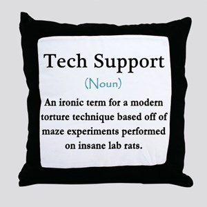Tech Support Throw Pillow