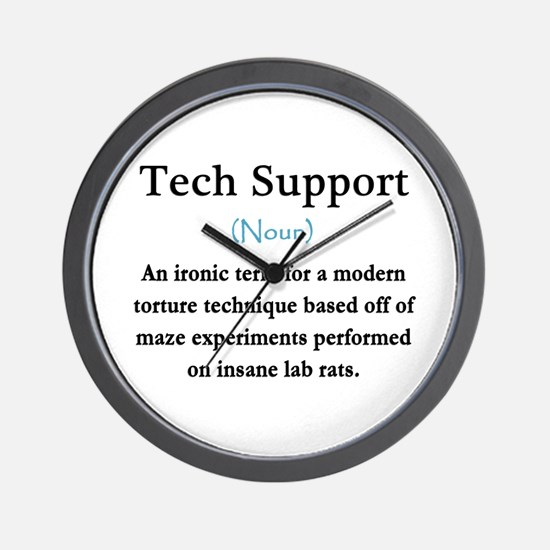 Tech Support Wall Clock