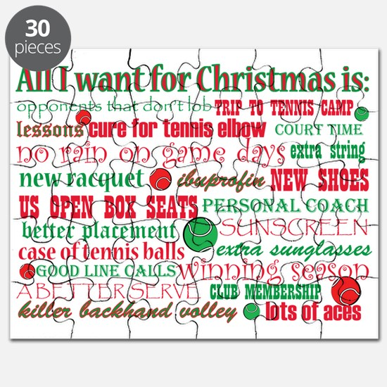 Tennis Holiday Greetings Puzzle