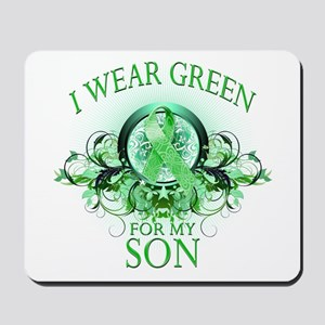 I Wear Green for my Son (flor Mousepad