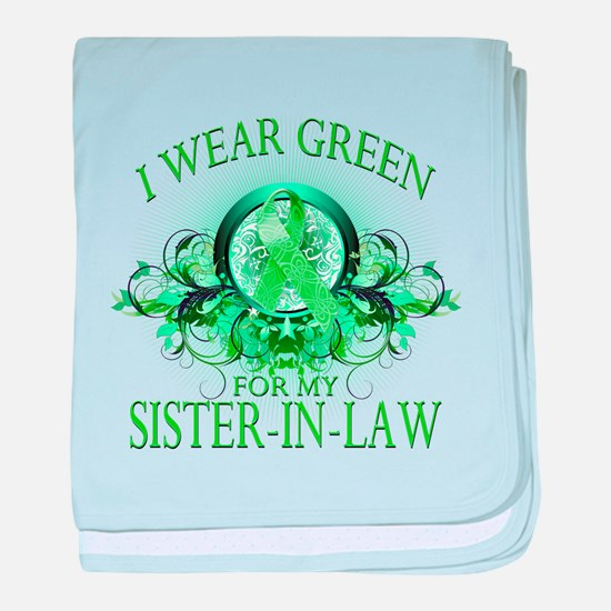 I Wear Green for my Sister In baby blanket