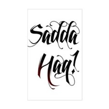 Saada Haq! Sticker (Rectangle)