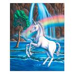 Rainbow Unicorn Small Poster
