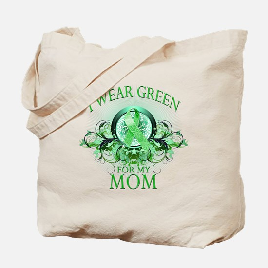 I Wear Green for my Mom (flor Tote Bag