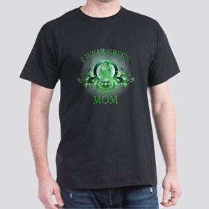 I Wear Green for my Mom (flor Dark T-Shirt