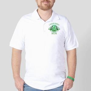 I Wear Green for my Mom (flor Golf Shirt