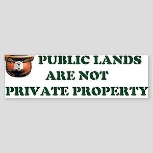 PUBLIC LANDS Bumper Sticker