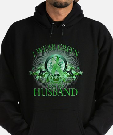 I Wear Green for my Husband ( Hoodie (dark)