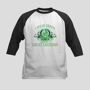 I Wear Green for my Great Gra Kids Baseball Jersey