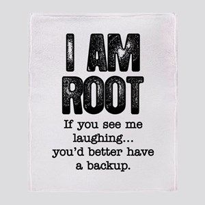 I Am Root Throw Blanket