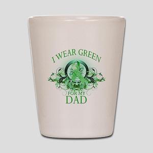 I Wear Green for my Dad (flor Shot Glass