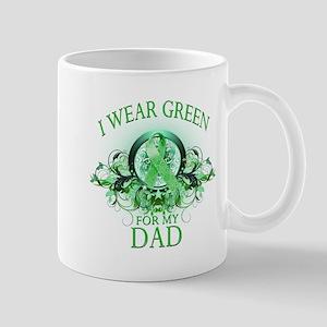 I Wear Green for my Dad (flor Mug
