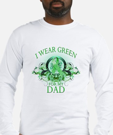 I Wear Green for my Dad (flor Long Sleeve T-Shirt
