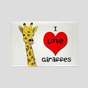 I Love Giraffes! Rectangle Magnet