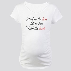 Lion Lamb 2 Maternity T-Shirt