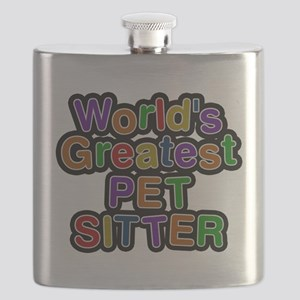Worlds Greatest PET SITTER Flask
