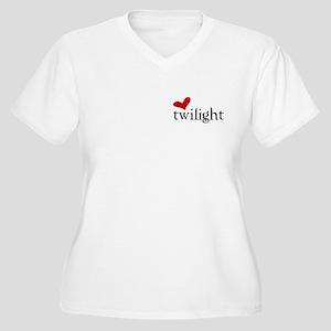 Sparkly Twilight Fan Women's Plus Size V-Neck T-Sh