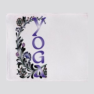 Yoga Beauty and Bliss Throw Blanket