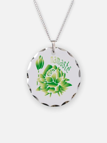 Go Green Lotus Necklace