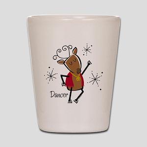 Dancer Reindeer Shot Glass