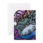 Hopping To It With Art Greeting Card