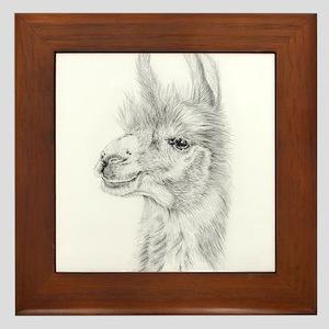 Llama Framed Tile