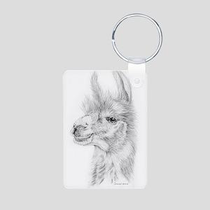 Llama Aluminum Photo Keychain