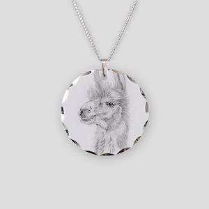 Llama Necklace Circle Charm