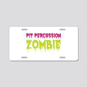 Pit Percussion Zombie Aluminum License Plate