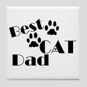 Best Cat Dad Tile Coaster