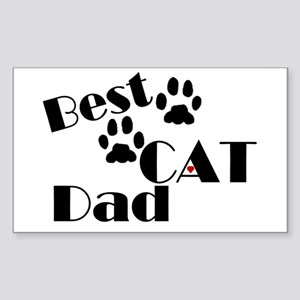 Best Cat Dad Rectangle Sticker